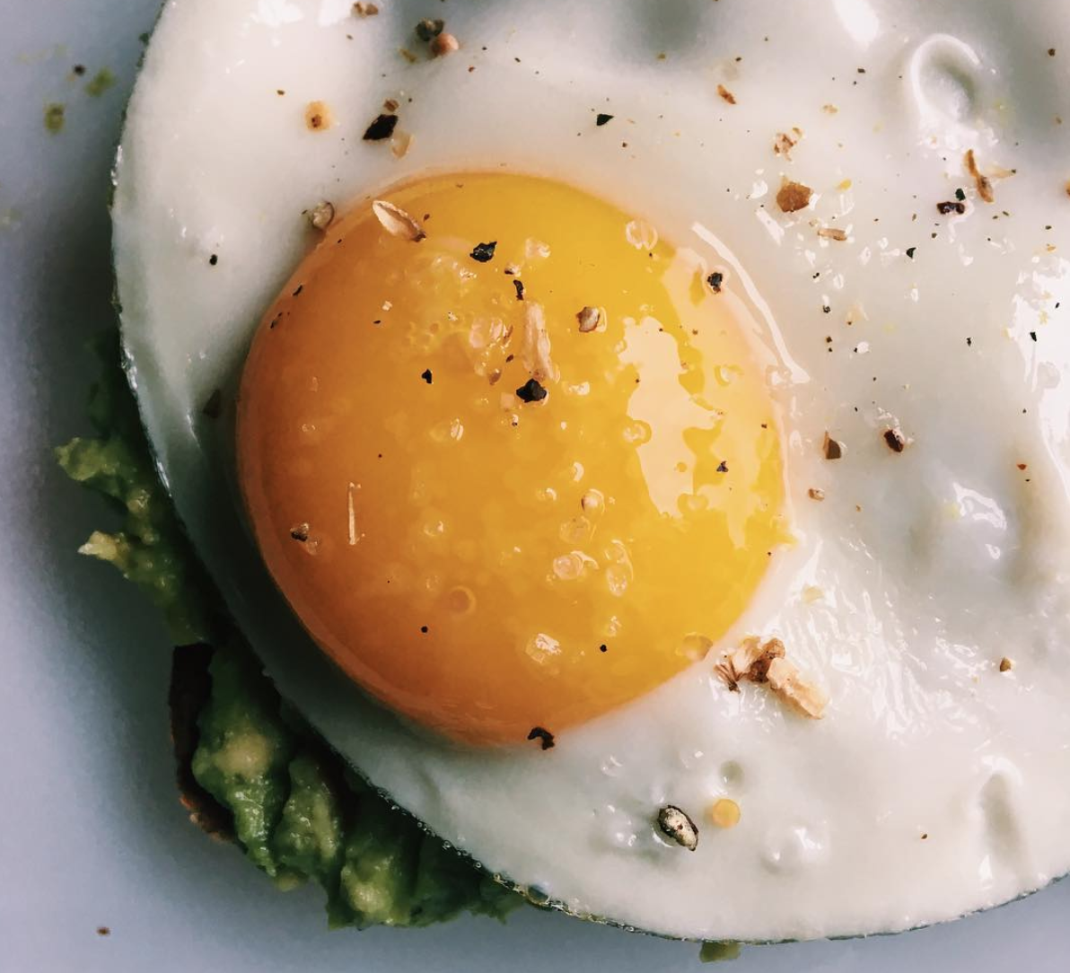 Sunny Egg on Avo Toast- Homemade