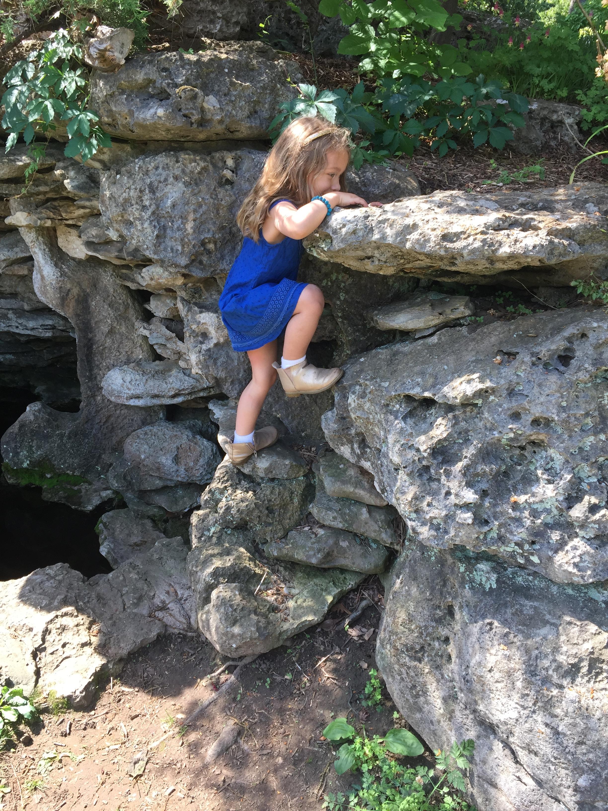 Fearless climber =)