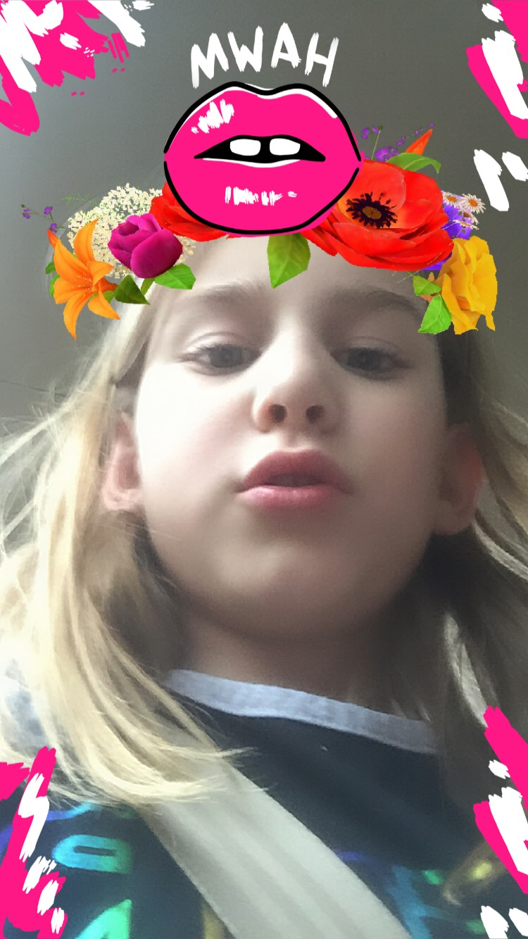 Serenity has been using messenger kids to keep in touch with her best friend Lizzy, who moved to California. She misses her a lot!