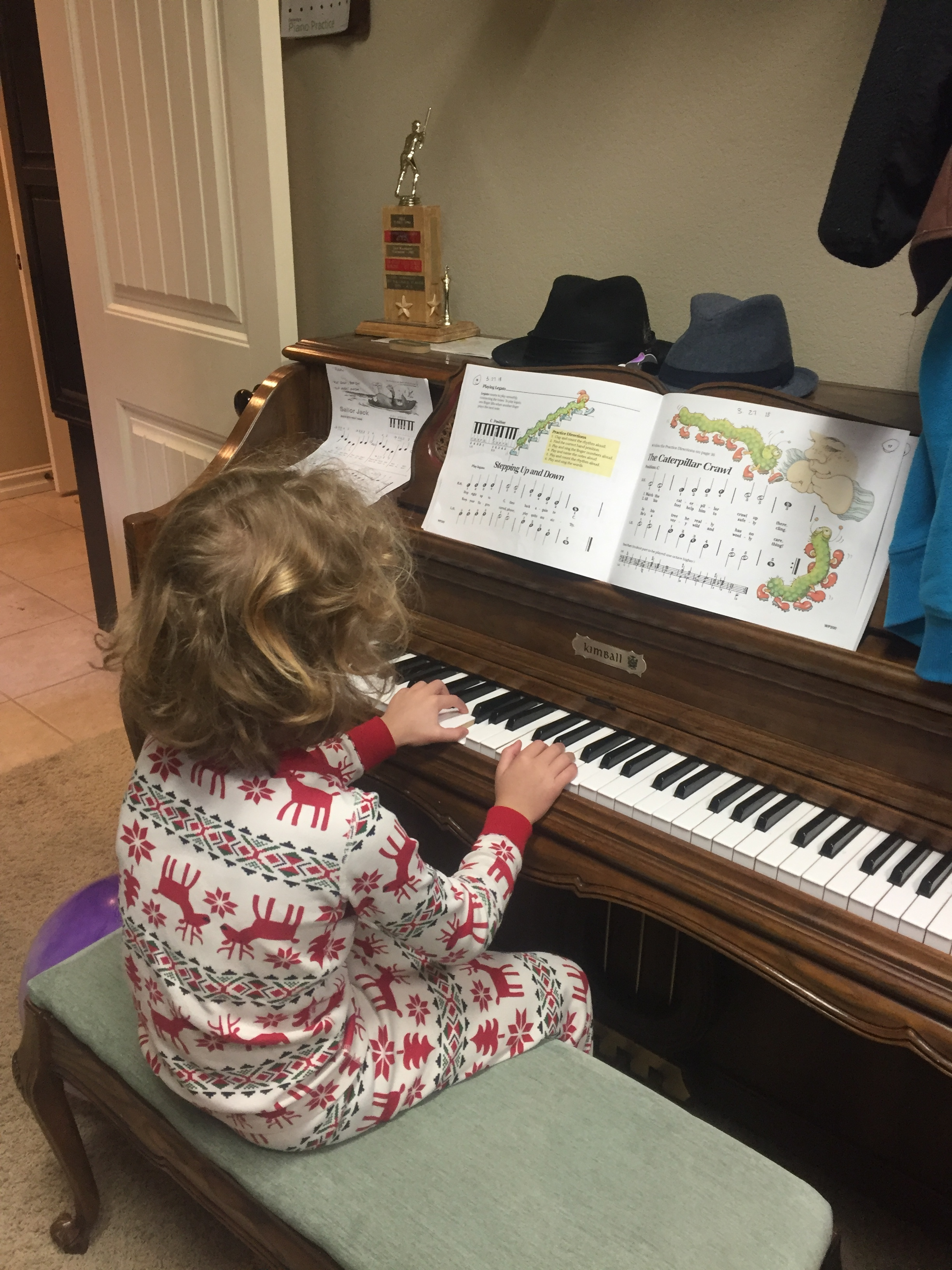 April 2018  Learning Piano!