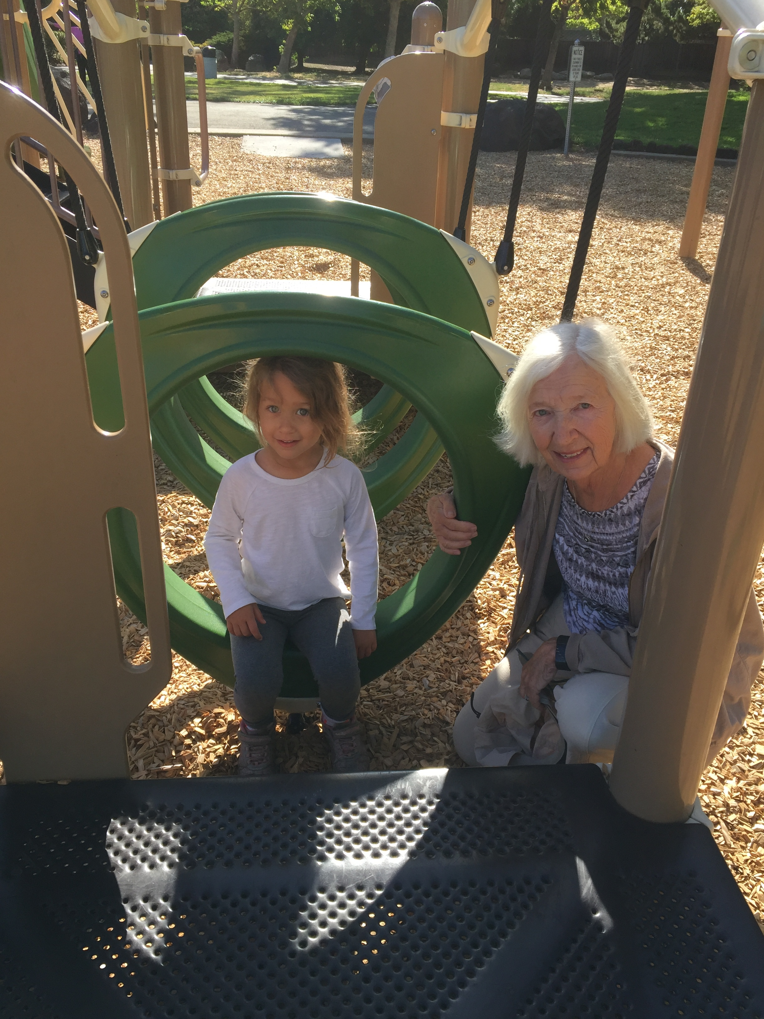We love going to the park in Cali! There are two in walking distance from Ann and John's house!
