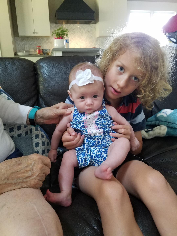 DZ got to meet Baby Scarlett!