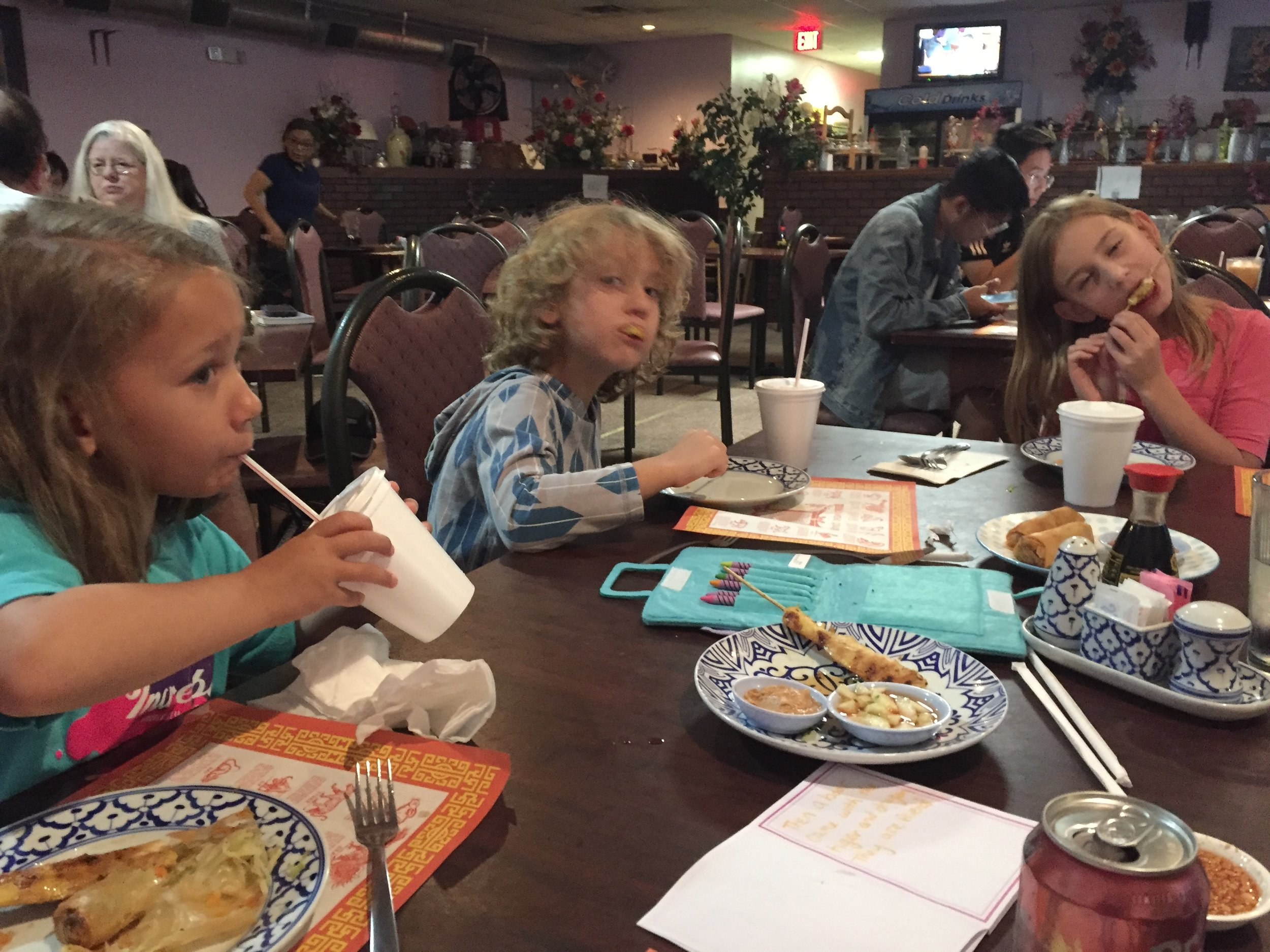 The kids love Thai food! It's wonderful but crazy as I wasn't sure they actually liked any kind of food ;)