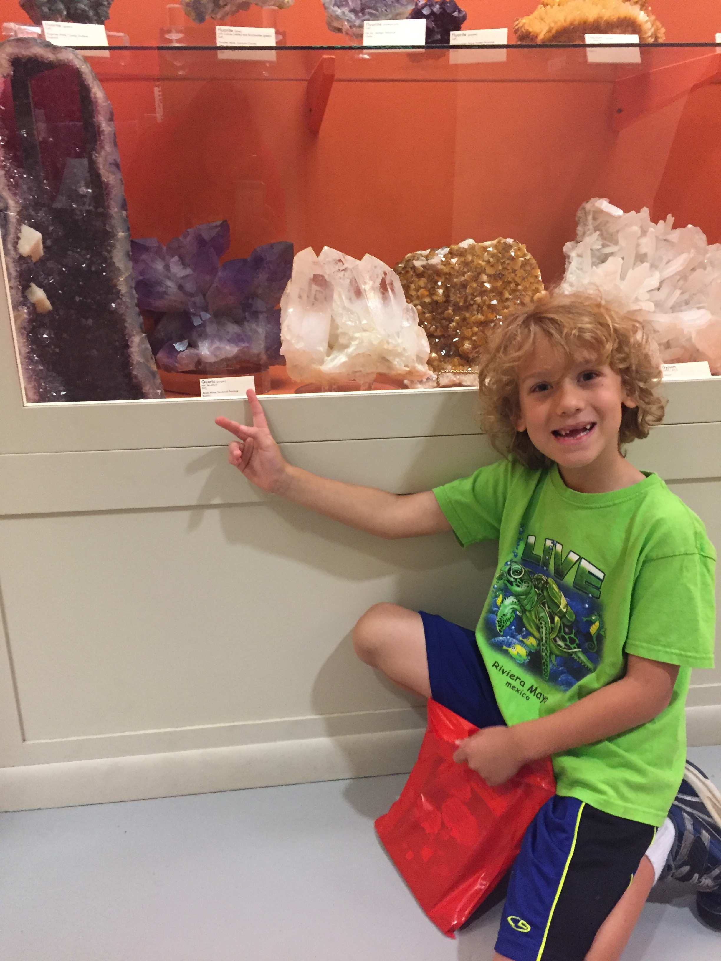 The awesome rock collection was one of DZ's favorite parts!