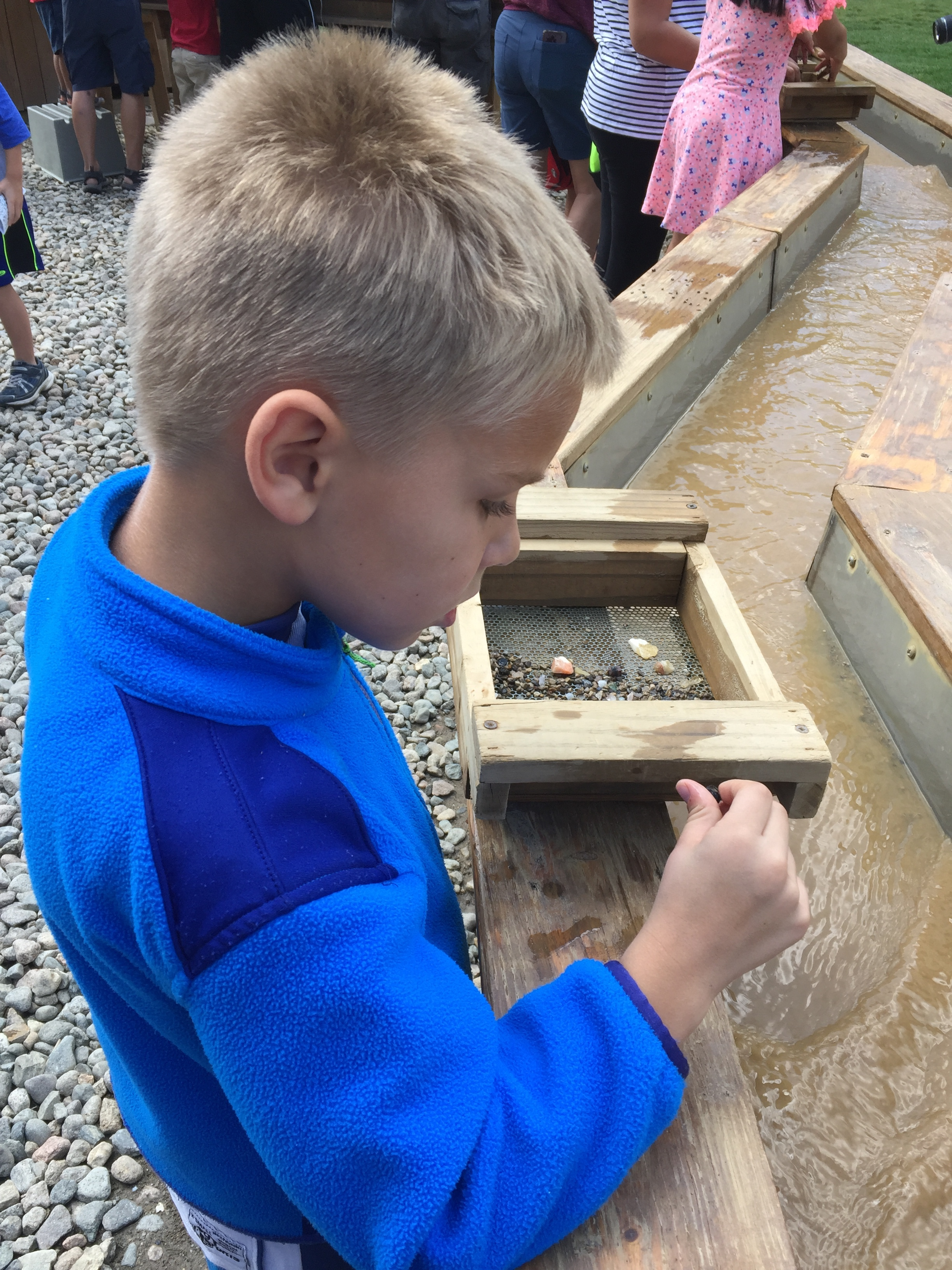 We went mining the last day! CJ examined every rock carefully!