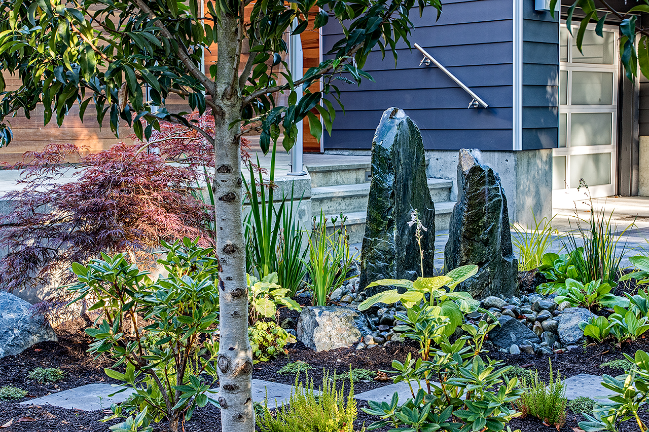 Faces of Mother Nature-statues-water garden-MustangLandscape-Victoria-BC-garden-fountain.jpg