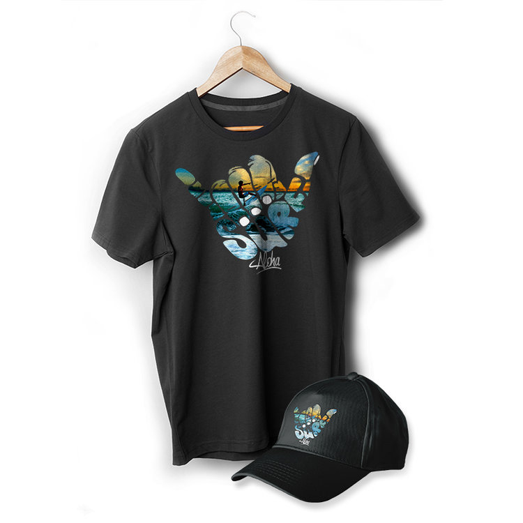 UltraColour on Black T-Shirt and Cap