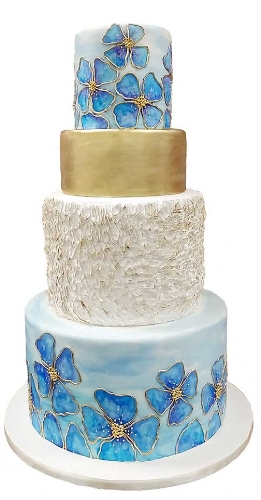 blue-flowers-gold-and-ruffles-watercolor-wedding-cake.jpg