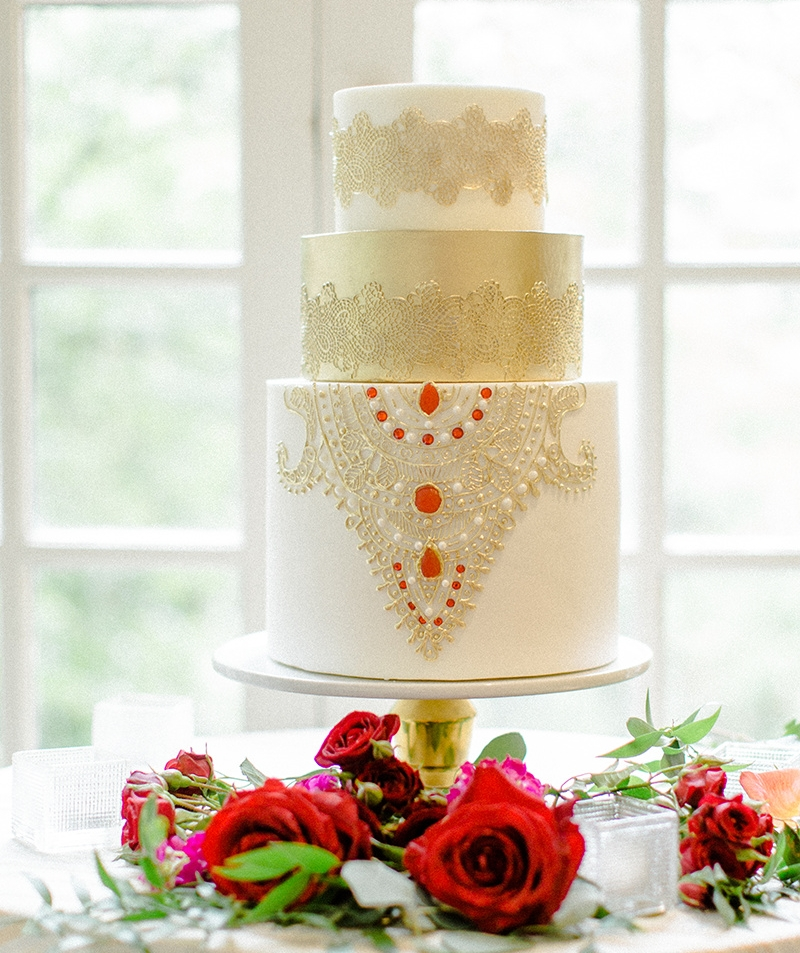 South Asian Inspired Wedding Cake