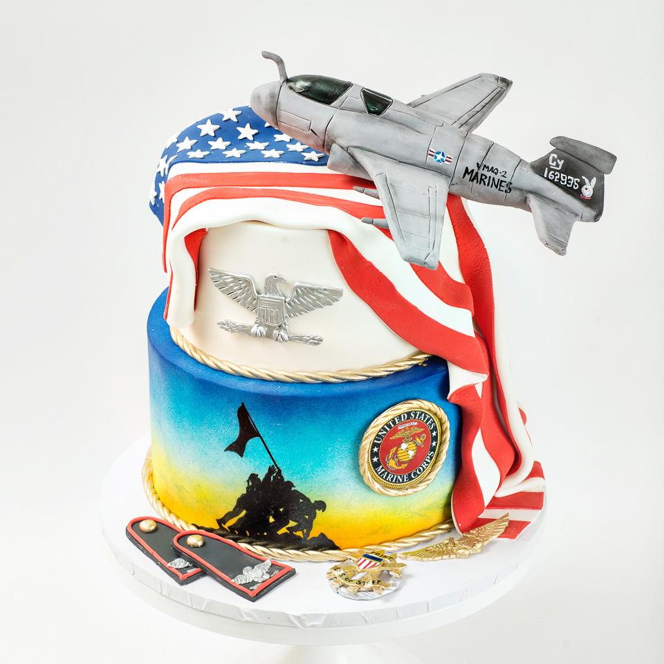 Marines Military Promotion Cake