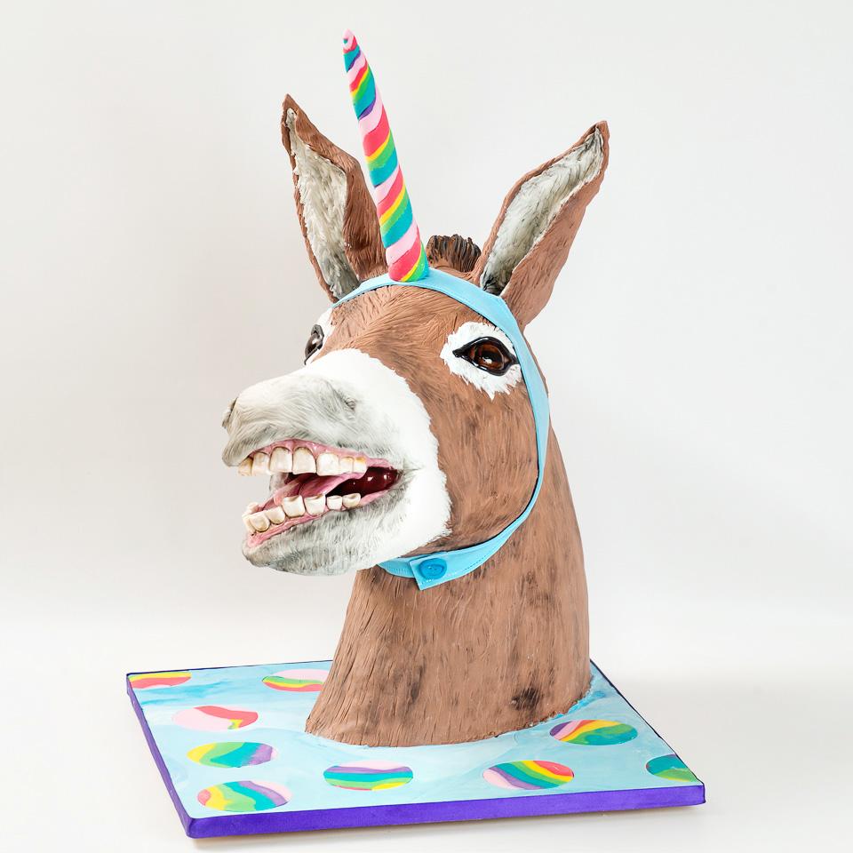 Donkey Unicorn cake