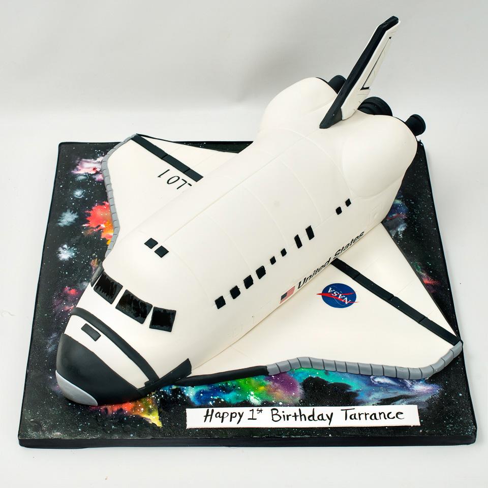 NASA Spaceship Birthday Cake