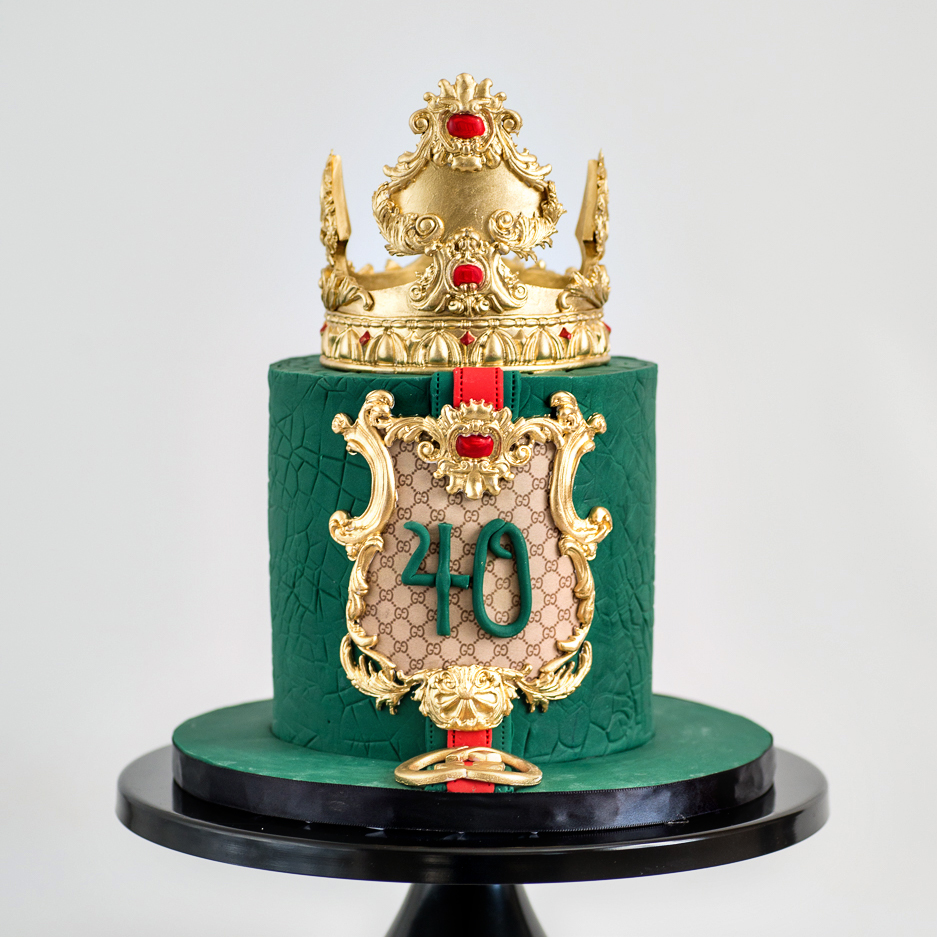 Gucci 40th Birthday cake