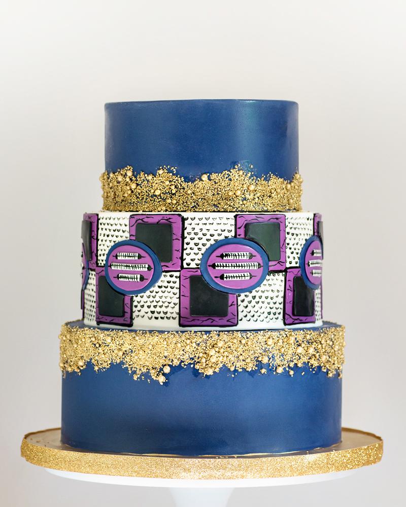 African Inspired Wedding Cake