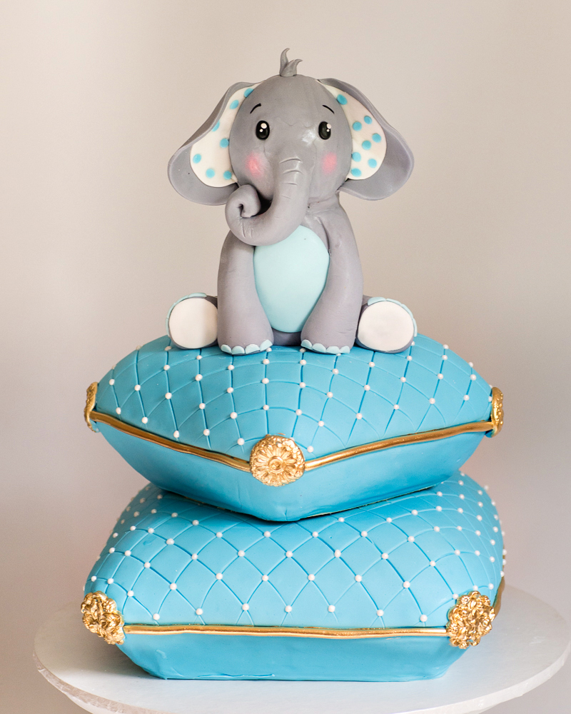 Baby Elephant Pillow Cake