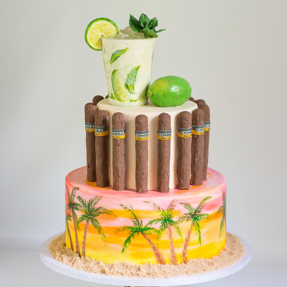 Havana Nights Birthday Cake