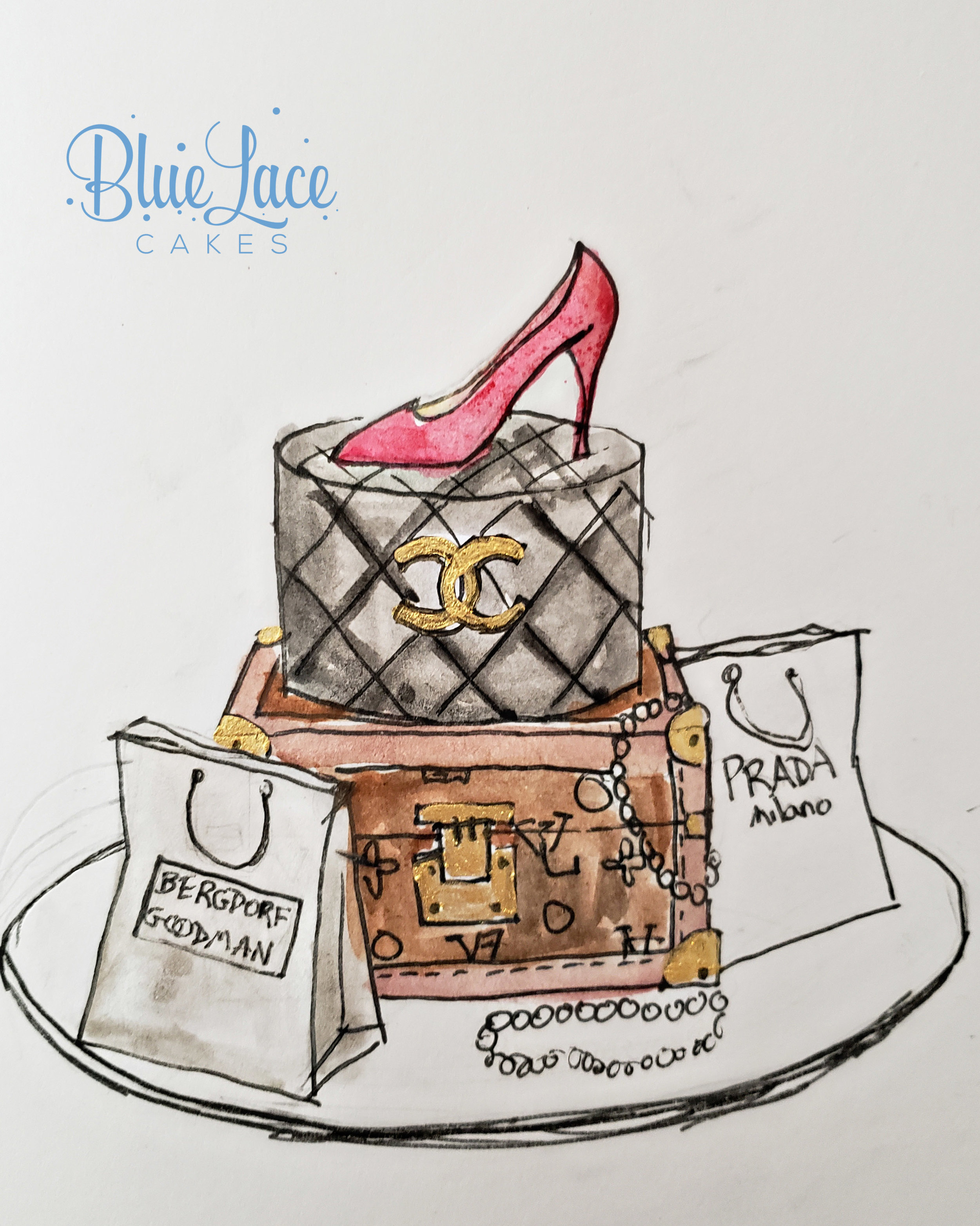 An example of a cake sketch.
