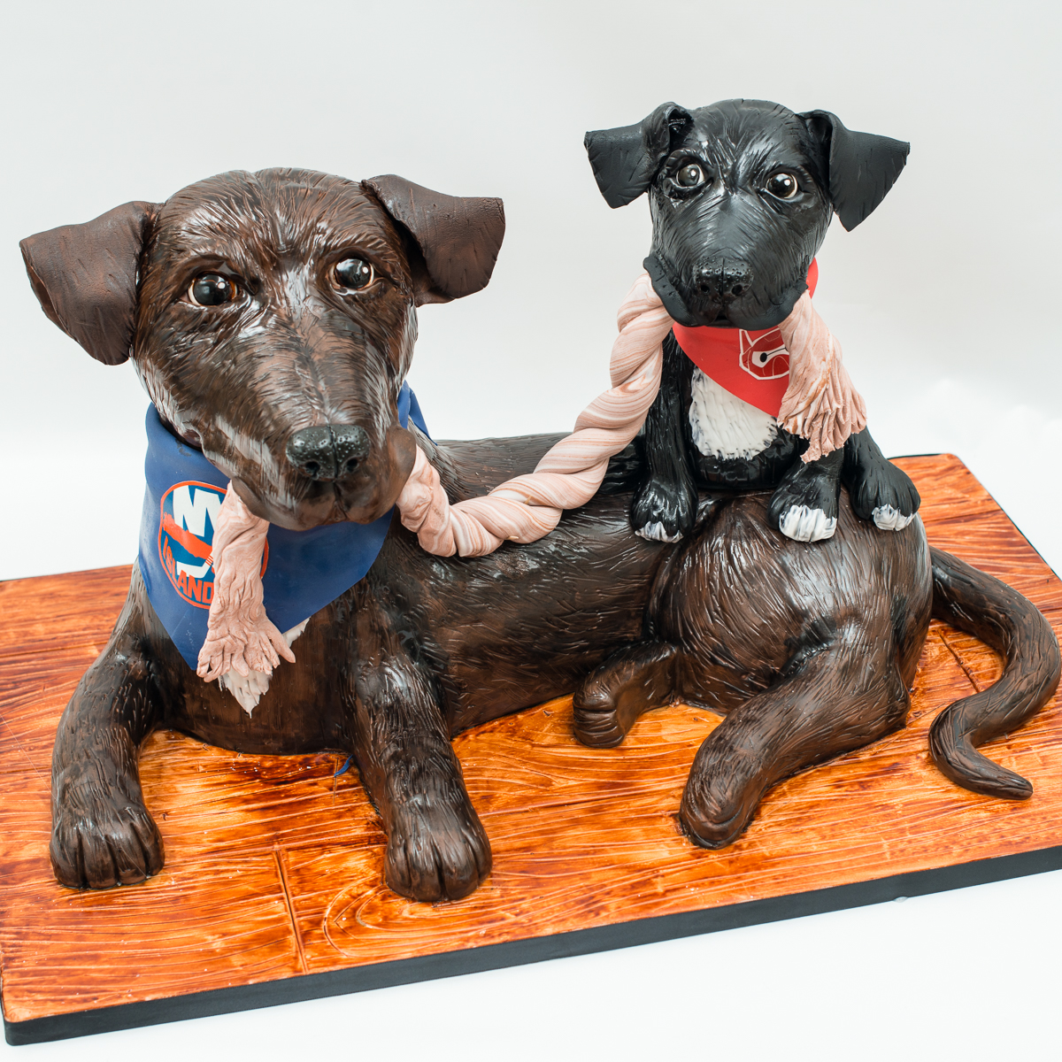 Dog and Puppy Groom's Cake