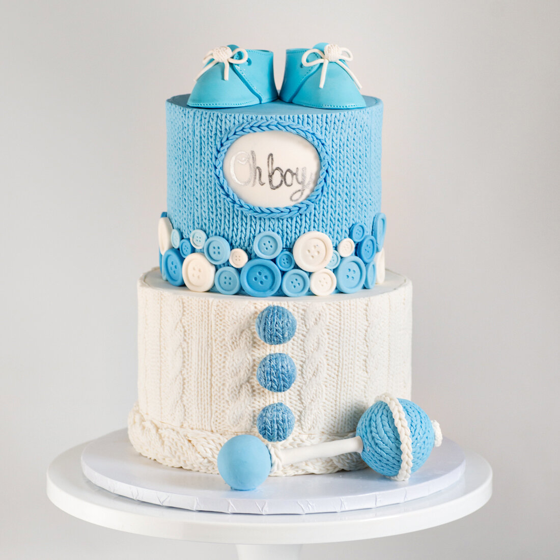 Baby Shower Cakes Blue Lace Cakes