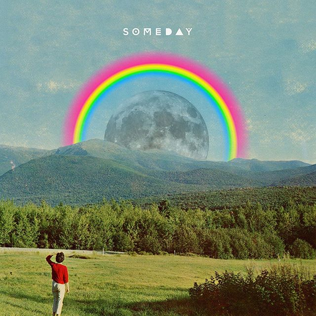 "New @dear.humans single ""Someday"" dropping tomorrow on SoundCloud ⚡️🌈"
