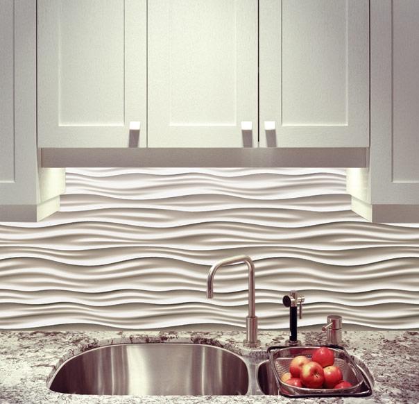White Kitchen Backdrop