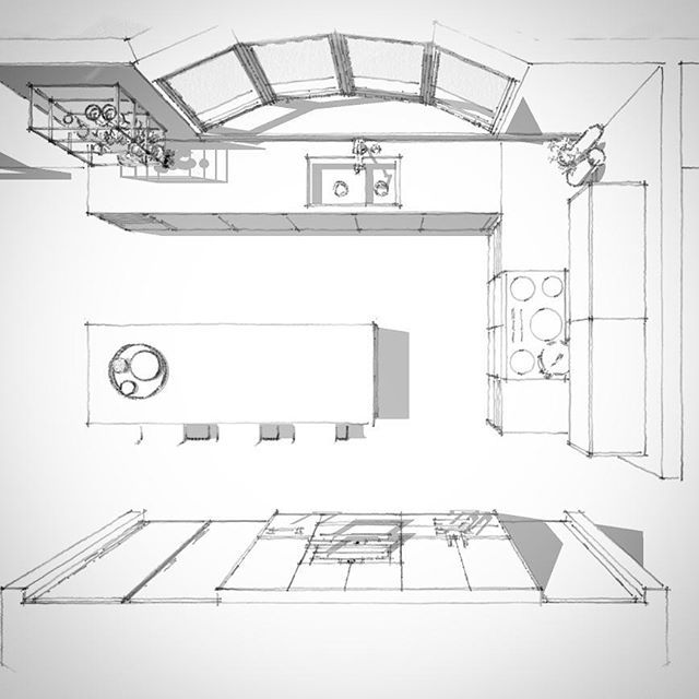 #Saturday #kitchen #sketch #newclient #newproject #letsgo #drawing