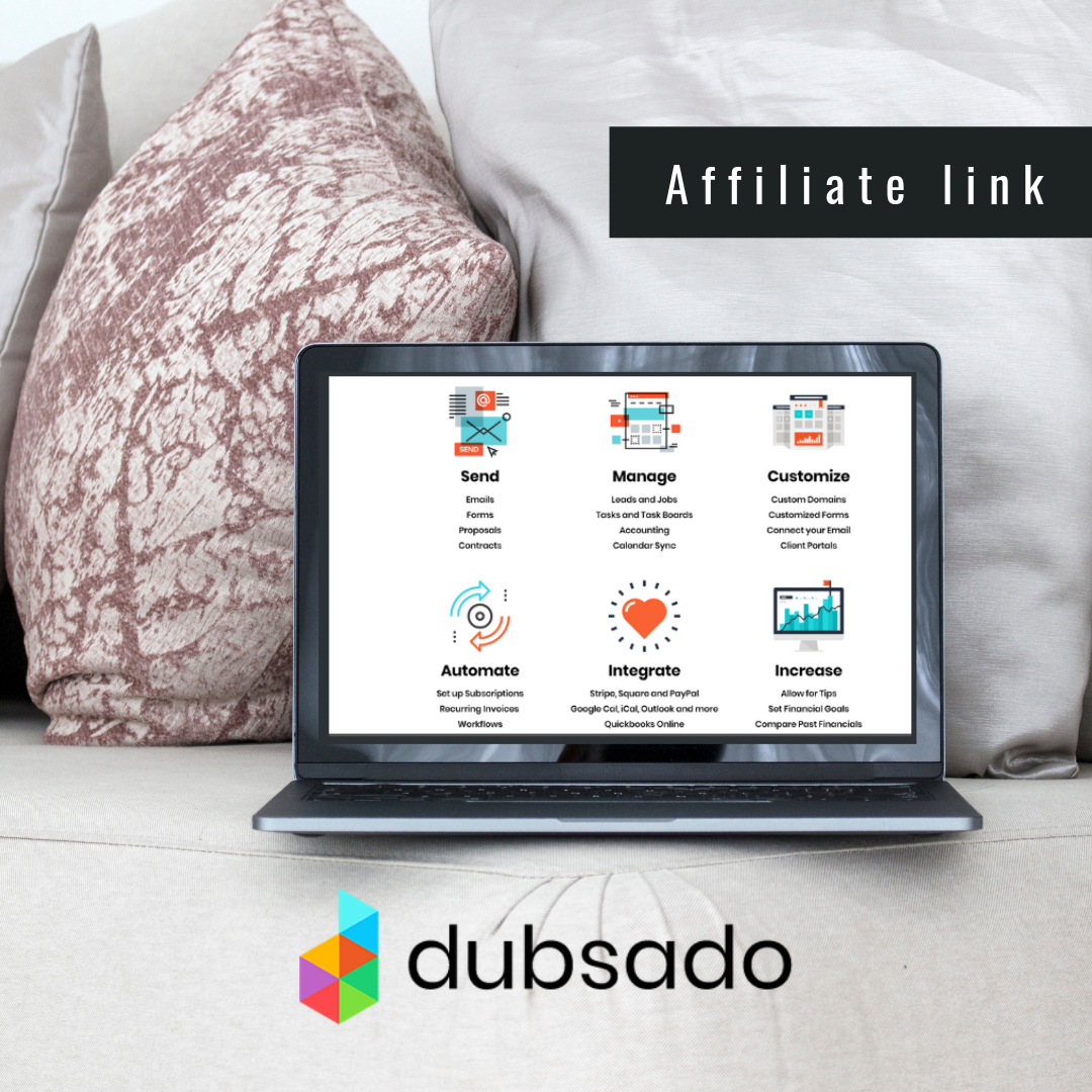 ''From invoicing, signing contracts, scheduling appointments,  Dubsado  is a software built to save you time, impress clients, and grow your business.''  Get 20% OFF your monthly or yearly subcription by clicking here or by using the coupon code: graphic.maven