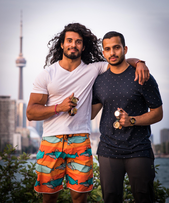 Justin Alvares and Nibin Thomas in Toronto, Ontario