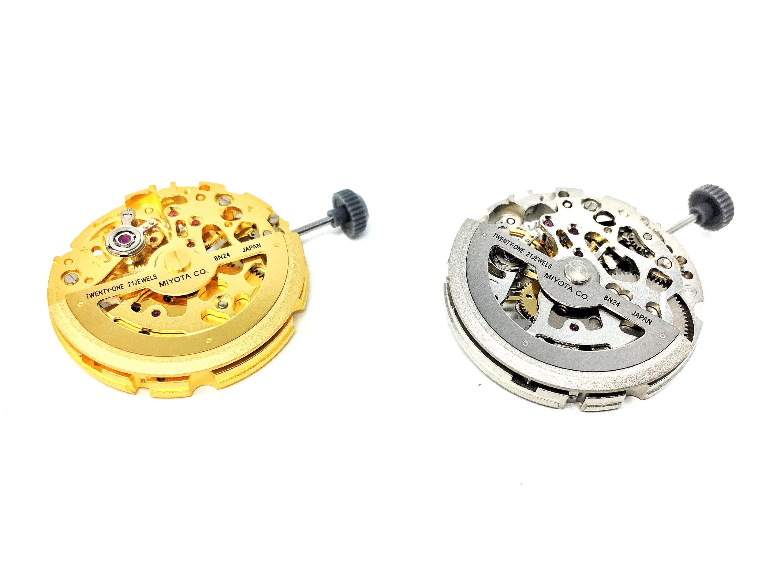 Chrome and Gold Citizen Miyota Automatic Movement 8N24