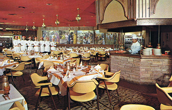 Post card from the old Safari steak restaurant from the 60's All of our carved wood panels, tables and chairs are from the original Safari Restaurant
