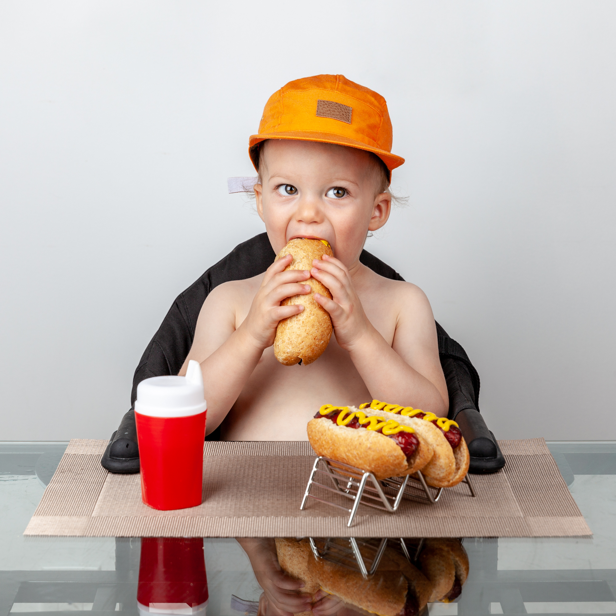 Portrait Photography Toddler with Hotdogs.jpg