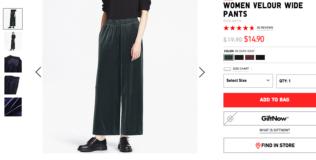 A more appropriate price to pay for a pair of shitty elastic-waist poly-velour pajama pants to wear to your 5th grade winter dance.
