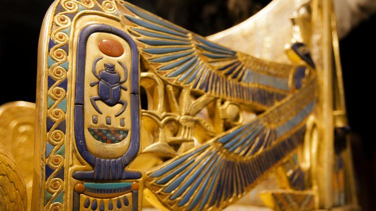 Photo by Christian Rodas.King Tut exhibit at the San Diego Natural History Museum.