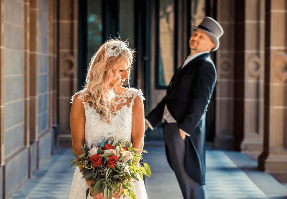 real-weddings-bride-groom-claire-vintage-bouquet
