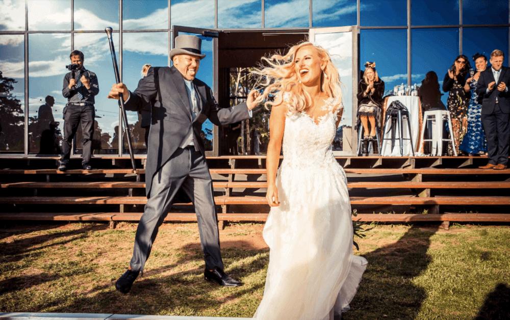 real-weddings-bride-groom-claire-vintage-outside