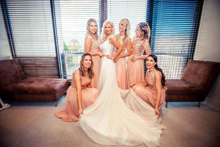 real-weddings-bride-claire-vintage-dress-bridesmaids