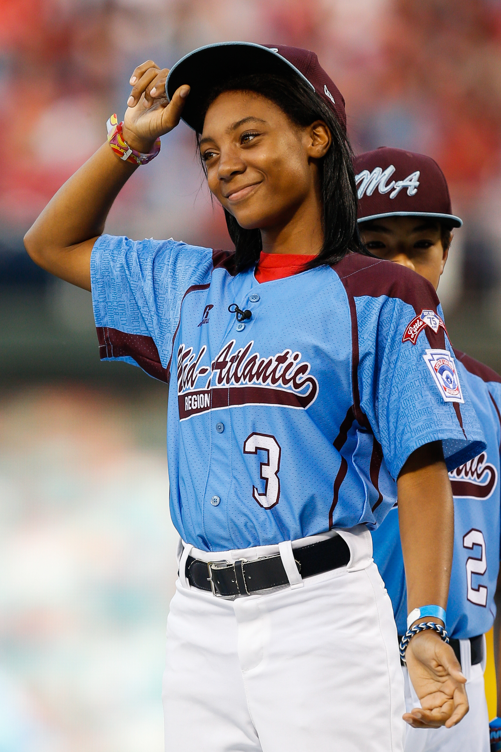 Mo'Ne Davis - First girl to pitch a shutoutin a Little League World Series, First African-American Girl to play in the series, average fastball mph of 71, the equivalent of 93 mpg in the major leagues