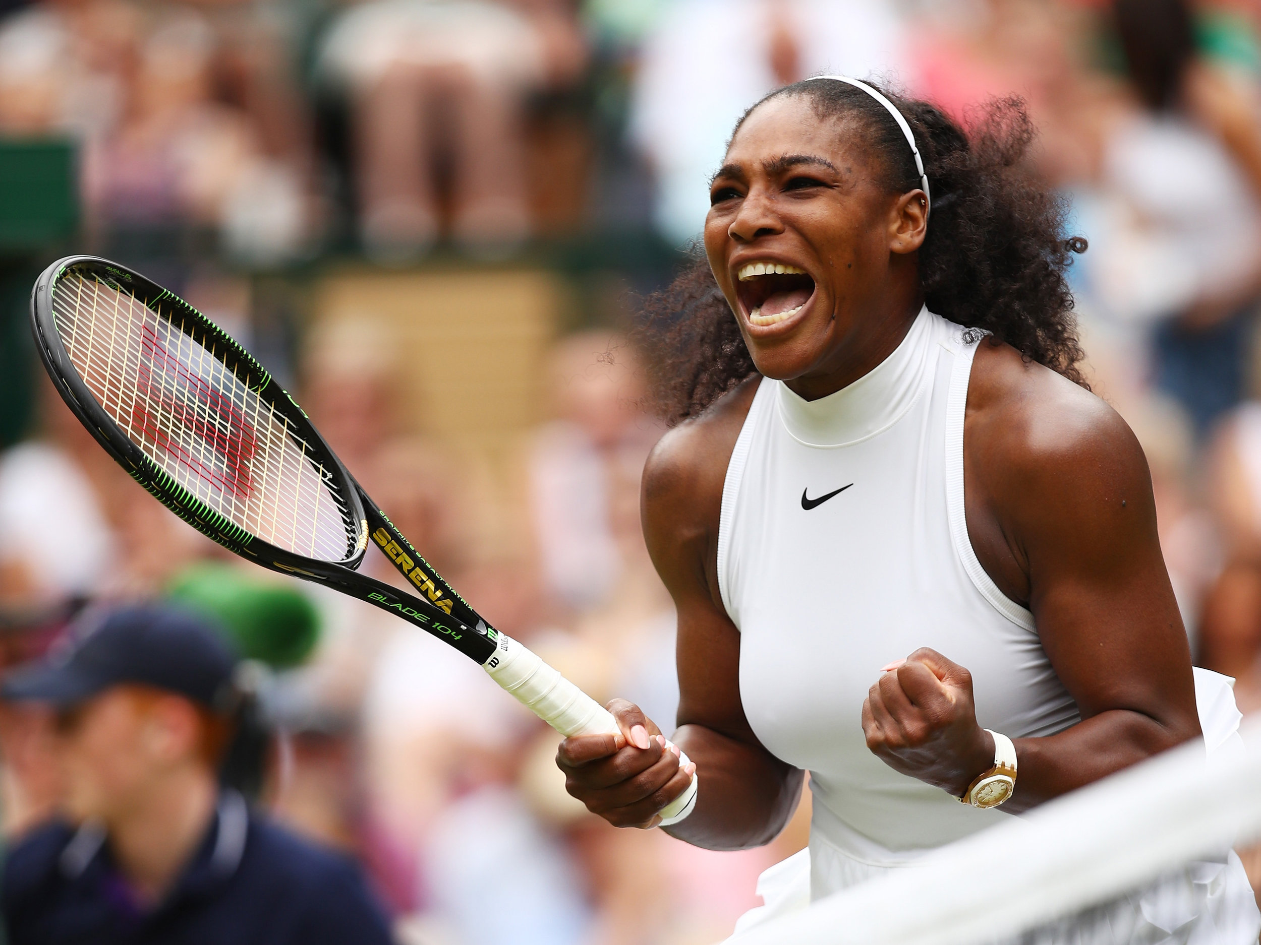 Serena Williams - The record smasher. First tennis player (male or female) to win 23 Grand Slam singles titles in the open era, the only player in history to have won singles titles at least six times in three of the four Grand Slam tournaments, the only player ever to have won two of the four Grand Slams seven times each, the only player ever to win 10 Grand Slam singles titles in two separate decades. Record holder for the most women's singles matches won in grand slams, with a total of 316.