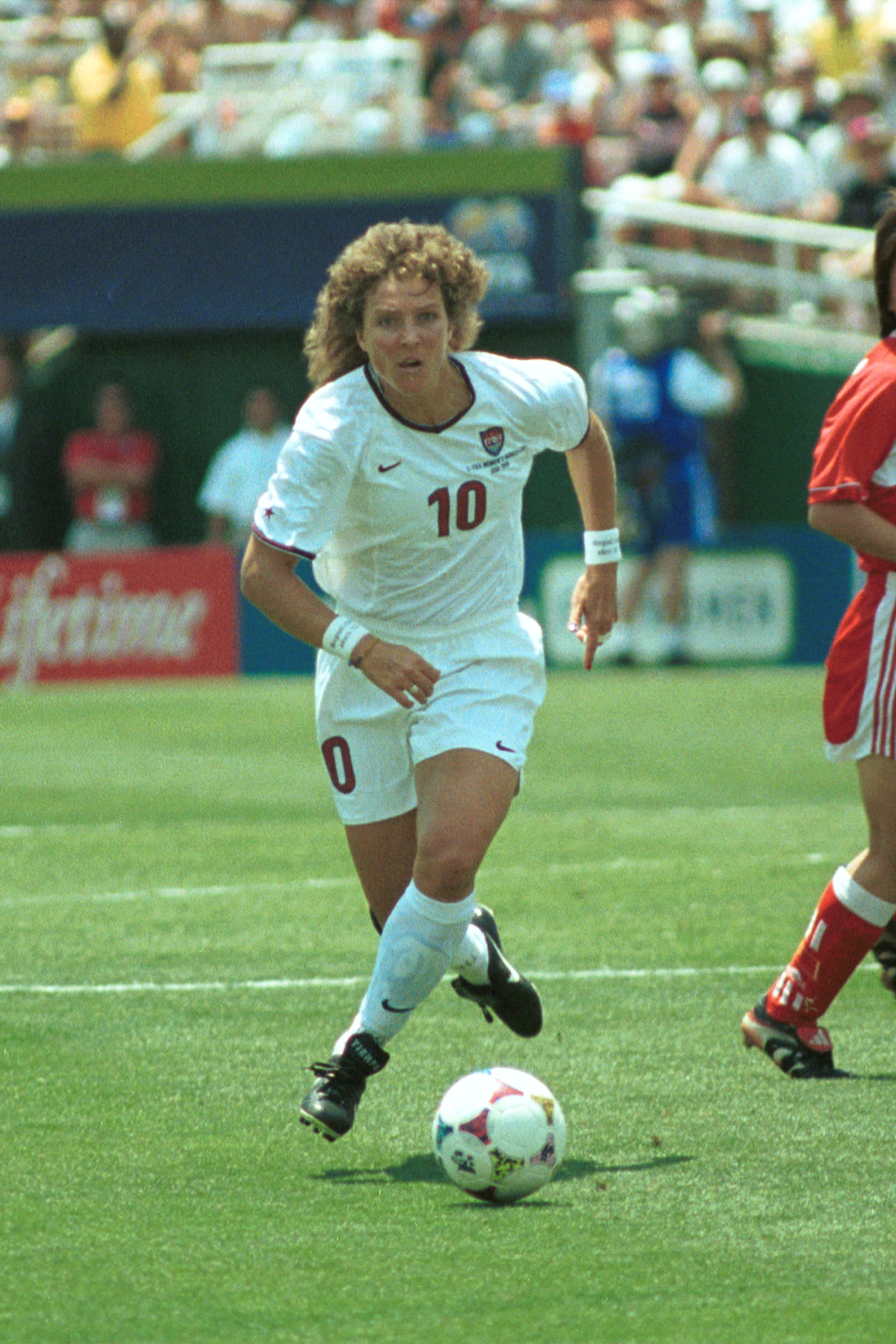 Michelle Akers - One of the greatest soccer players of all time, and one of two women on the FIFA 100