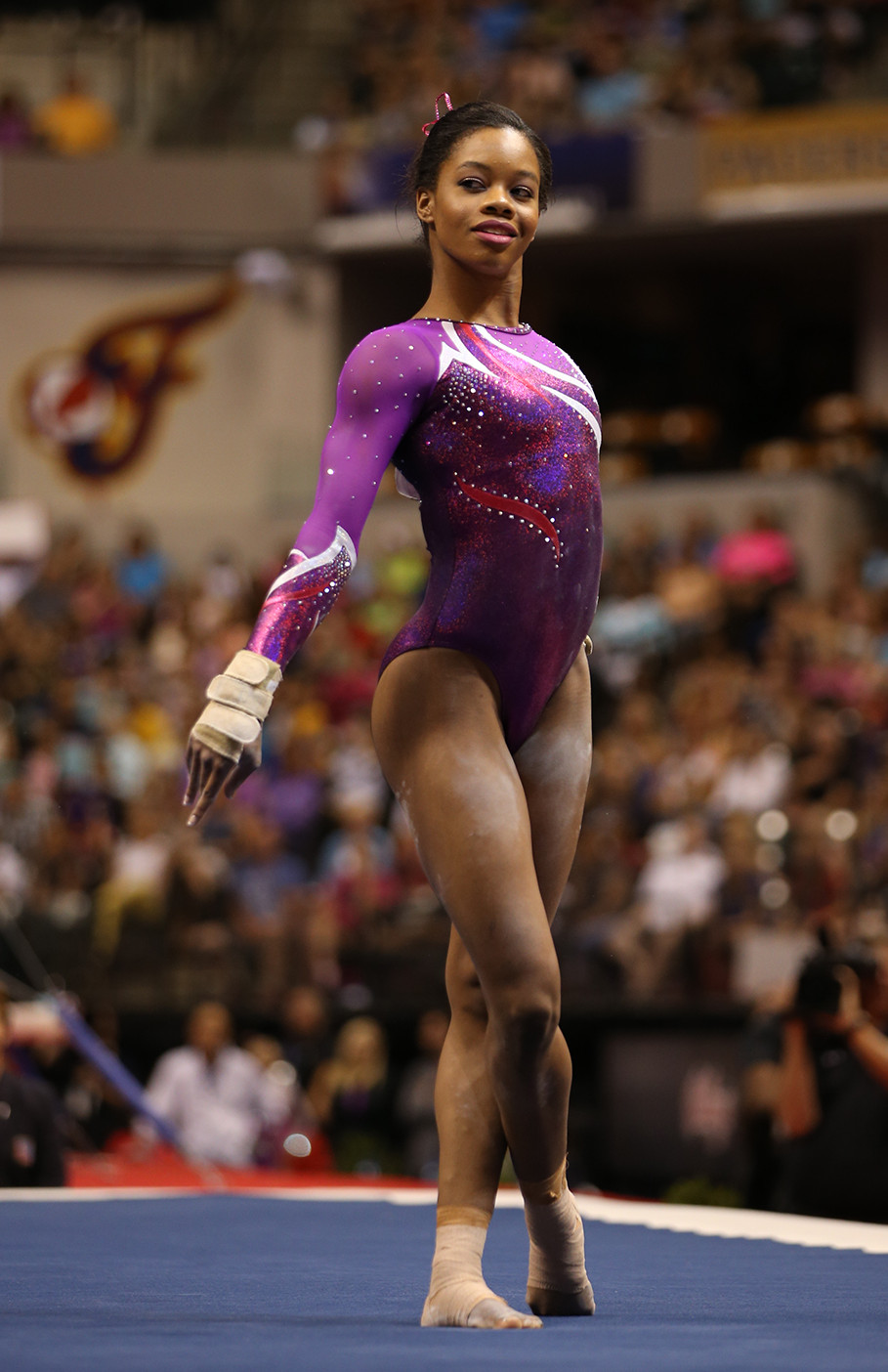 Gabby Douglas - First Black gymnast to be the individual all-around champion, and the first American gymnast to win gold in individual all-around and team competitions at a single Olympic Games.
