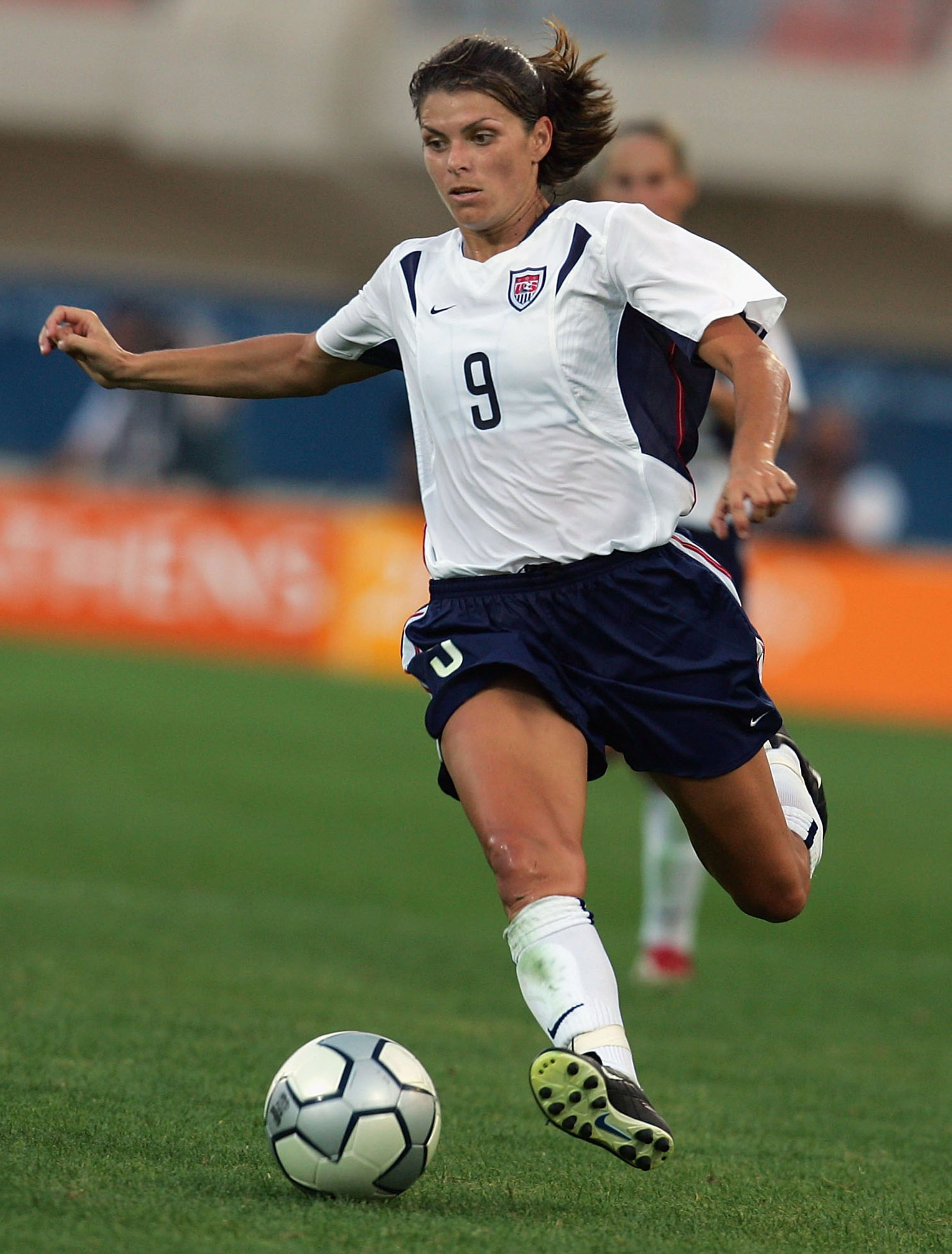Mia Hamm - First woman inducted into the World Football Hall of Fame, two-time Olympic gold medalist, two-time FIFA Women's World Cup champion