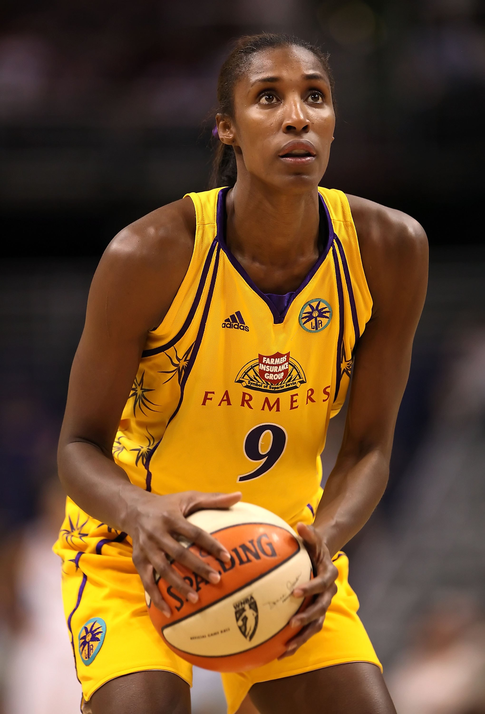 Lisa Leslie - First player to dunk in a WNBA game, three-time WNBA MVP, four-time Olympic gold medalist