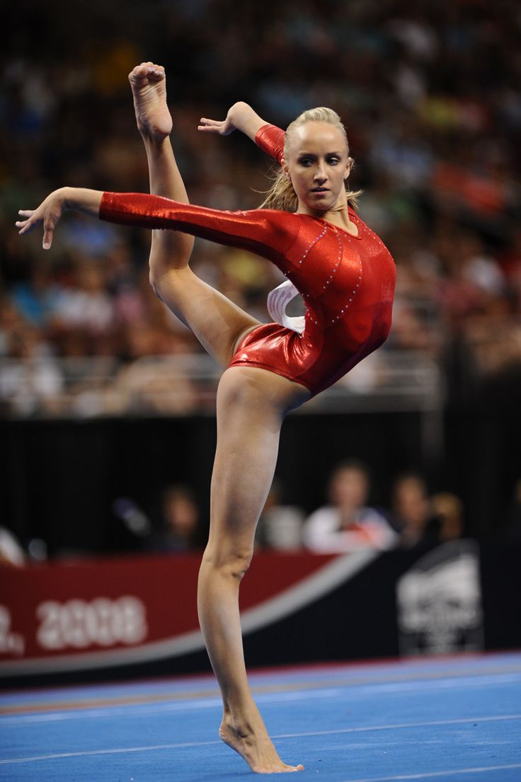 Nastia Liukin - Russian-American gymnast, four-time all-around U.S. national champion, 2008 Olympic individual all-around champion