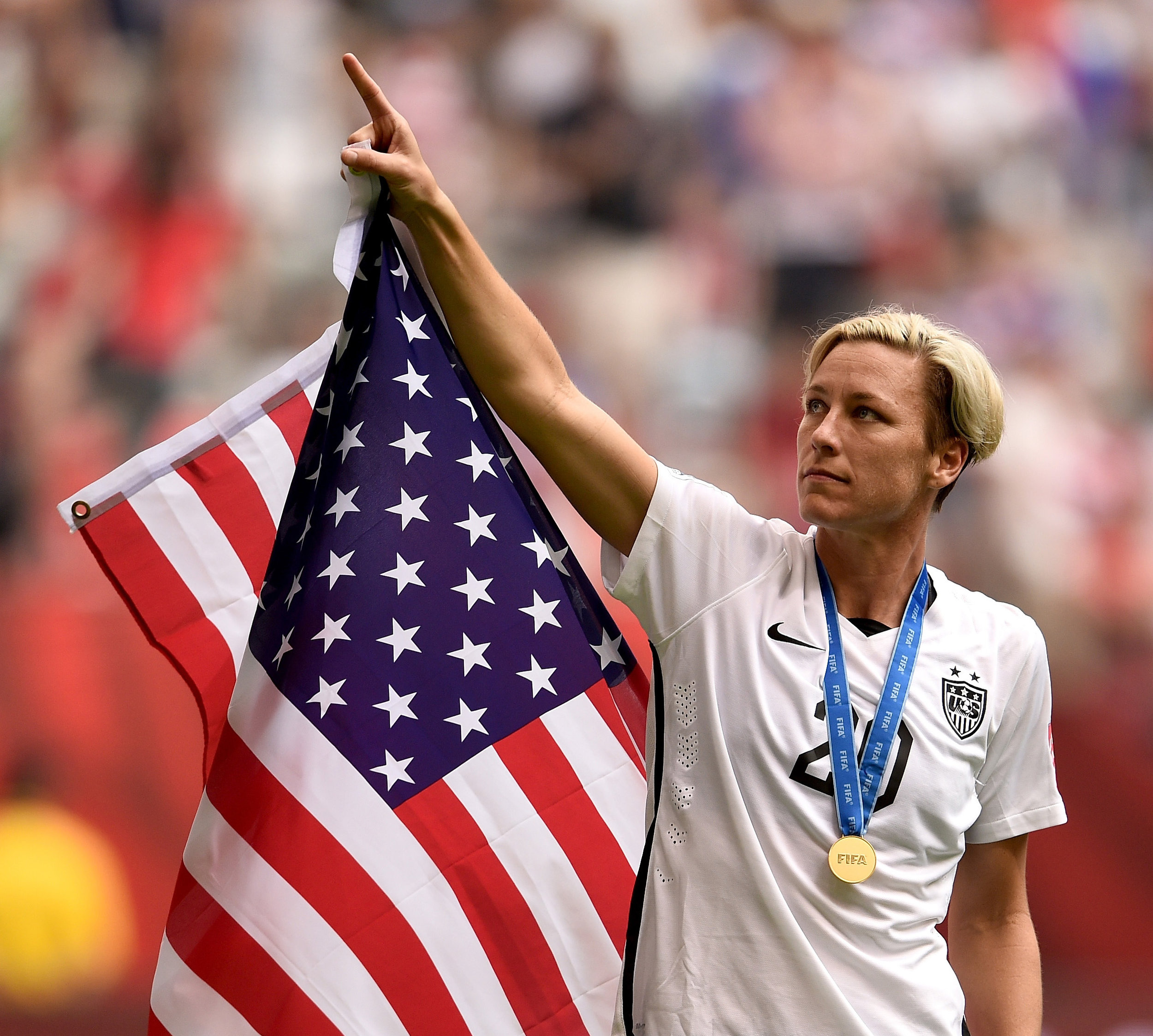 Abby Wambach - World record holder for international goals, highest all-time goal scorer for the U.S. national team