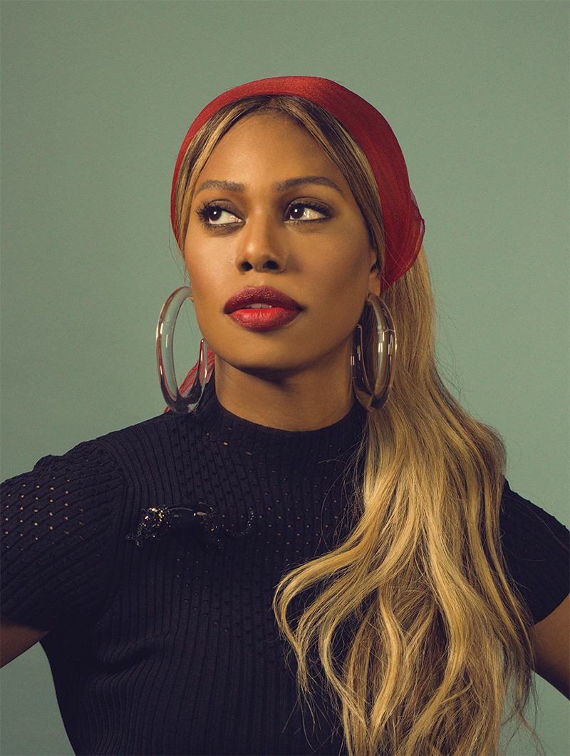 Laverne Cox - First transgender person to be nominated for a Primetime Emmy Award in the acting category, and the first openly transgender person to be on the cover of Time magazine