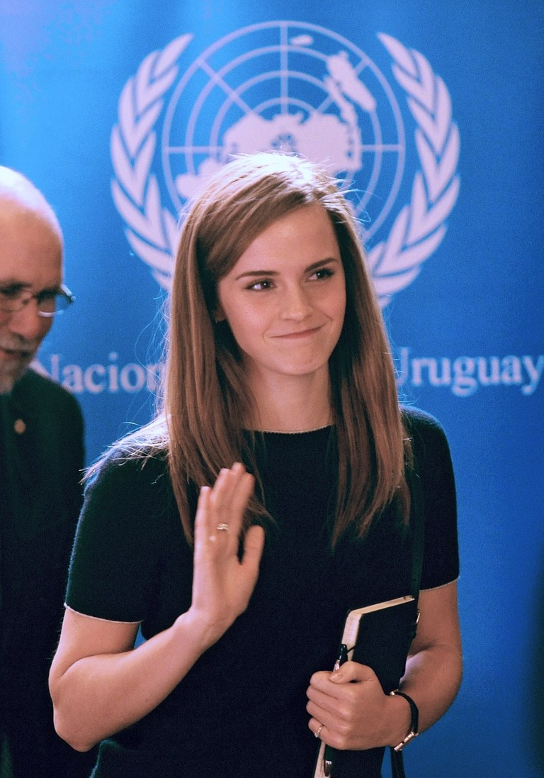 Emma Watson - Actress known for playing Hermione Granger, UN Women Goodwill ambassador, founder of HeForShe