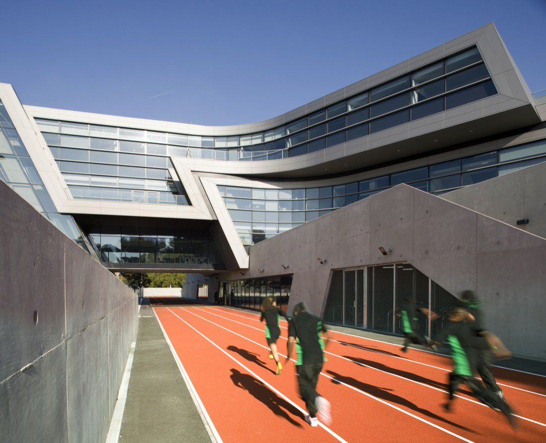 Evelyn Grace Academy in London, England, 2010 Photo by Luke Hayes via ArchDaily