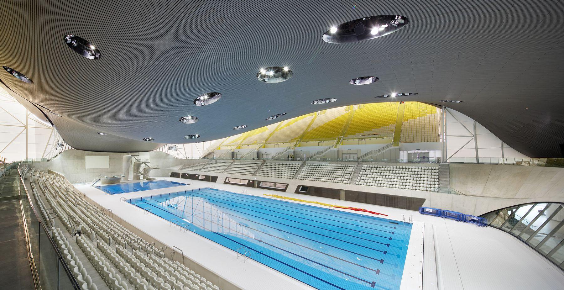 London Aquatics Centre for the 2012 Summer Olympics in London, England, 2011 Photo via Flickr/Creative Commons