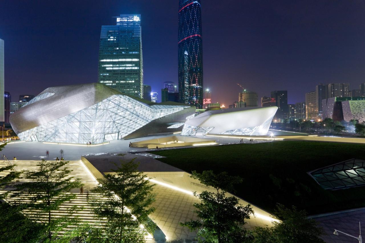 Guangzhou Opera House in Guangzhou, China, 2010 Photo by Iwan Baan via ArchDaily