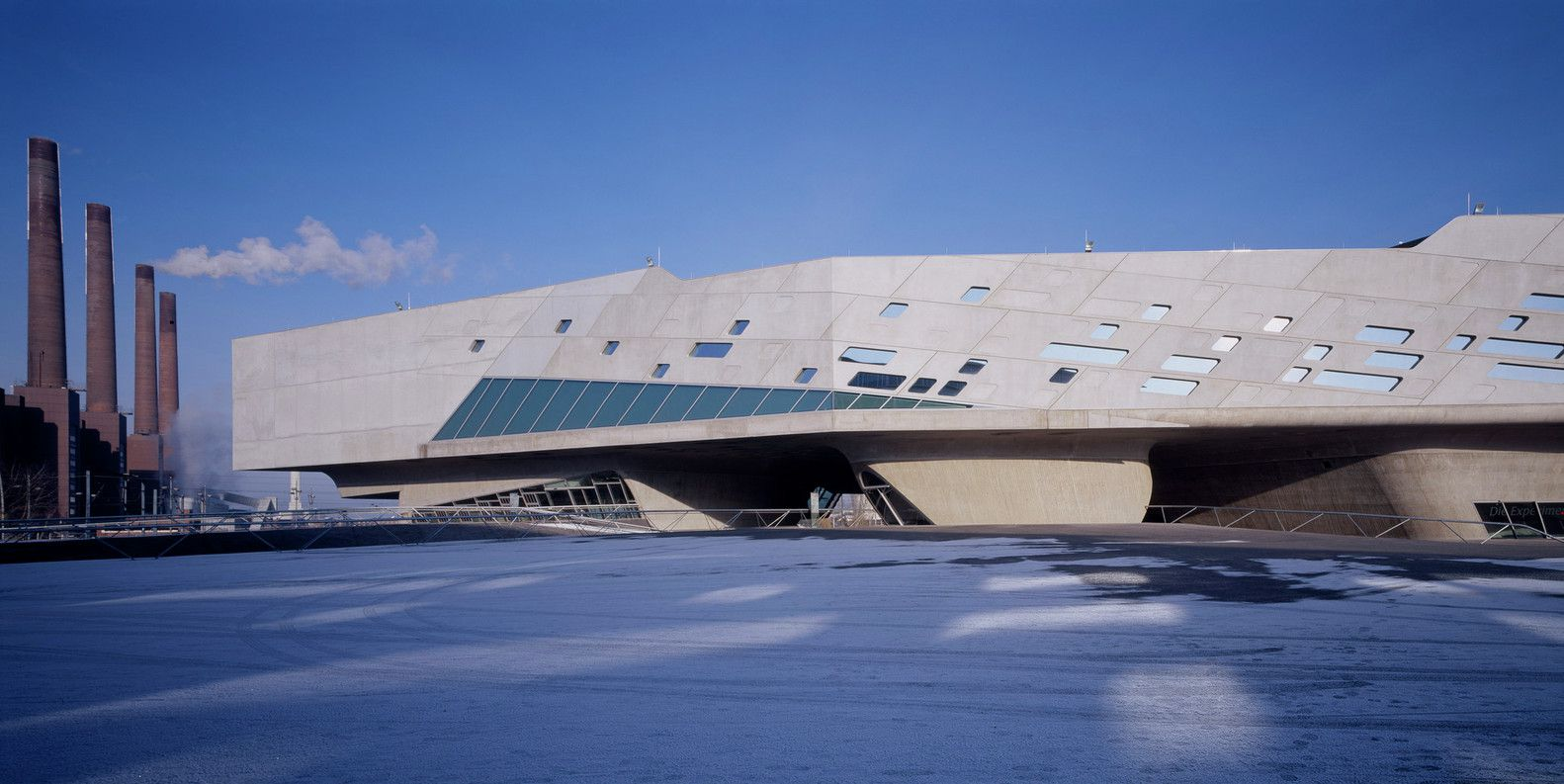 Phaeno Science Center in Wolfsburg, Germany, 2005 Photo by Werner Huthmacher via ArchDaily